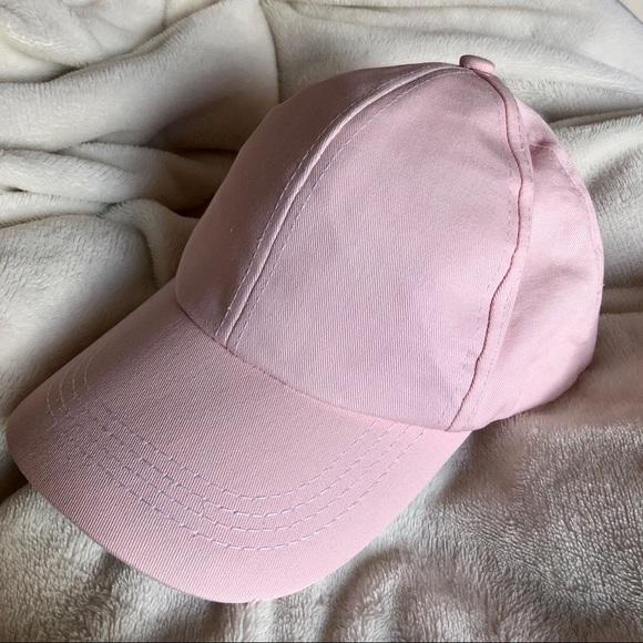 9ff0ad4eda2 Light Pink Curved Baseball Cap Hat